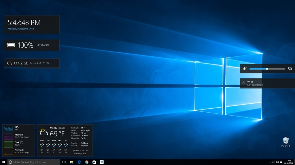 Screenshot 1 - Win10 Widgets