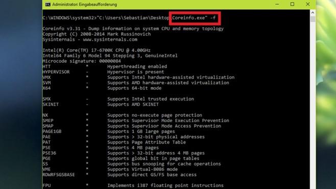 Prozessor-Name und Taktfrequenz anzeigen ©COMPUTER BILD