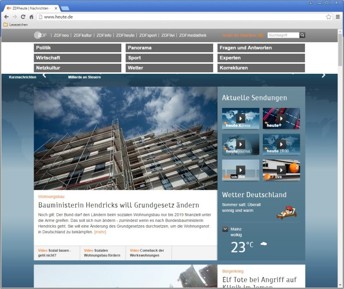 Screenshot 1 - ZDF: heute & heute-journal