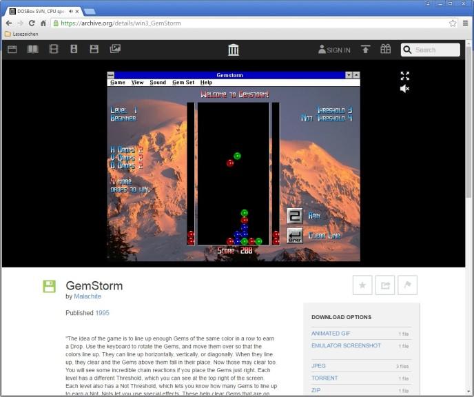 Screenshot 1 - Windows-3.1-Spieleklassiker im Browser zocken