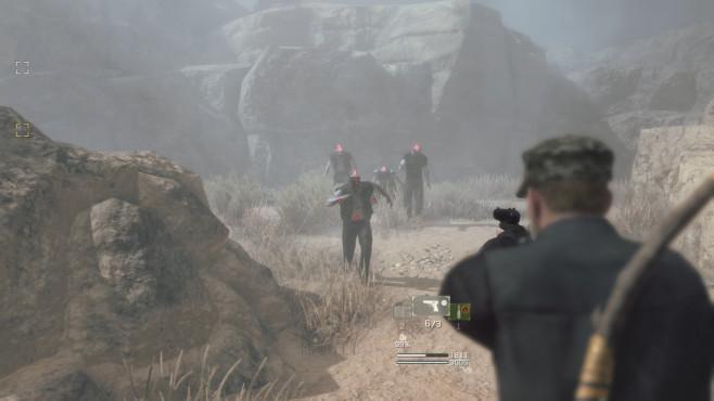 """Metal Gear Survive angespielt: Kampf ums Überleben! Schusswaffen wie diese Pistole erweisen sich als extrem wertvoll. Denn Bauteile und Munition sind in """"Metal Gear Survive"""" enorm selten.©Konami"""