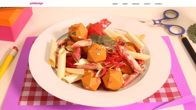 Pasta aus Papier©Screenshot: http://www.yelldesign.com/