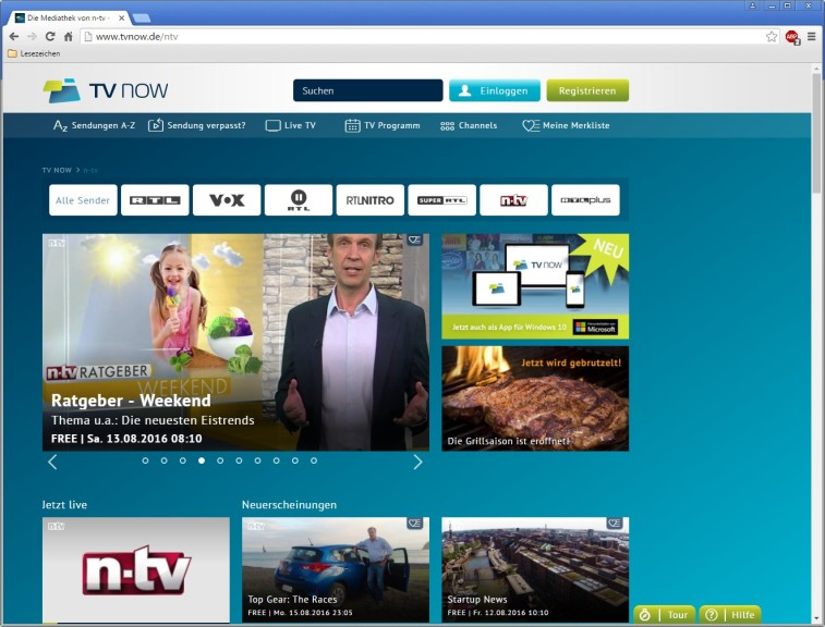 Screenshot 1 - n-tv-Mediathek