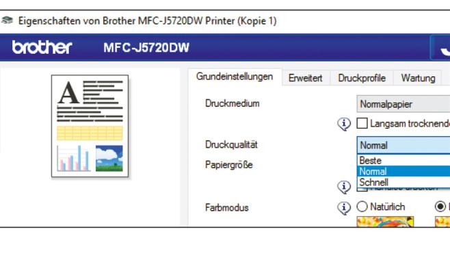 Drucken im Entwurfsmodus ©COMPUTER BILD