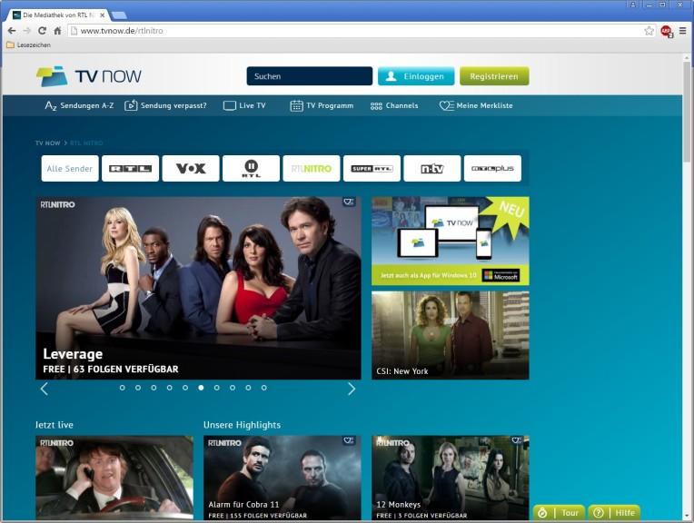 Screenshot 1 - RTL-Nitro-Mediathek