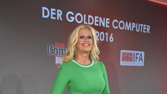 Barbara Schöneberger, Goldener Computer 2016©Bildschön