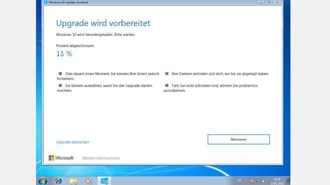 Vergleich: Windows 7 und Windows 10/8.1 – mit ihren Vor- und Nachteilen Der Windows 10 Update Assistent modernisiert die Softwarebasis Ihres PCs.©COMPUTER BILD