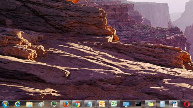 Desktop und Taskleiste – Windows 7 ©COMPUTER BILD