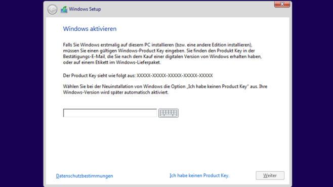 Installationsroutine – Windows 10 ©COMPUTER BILD