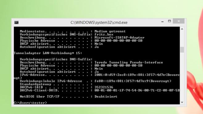 Kommandozeile – Windows 8 ©COMPUTER BILD