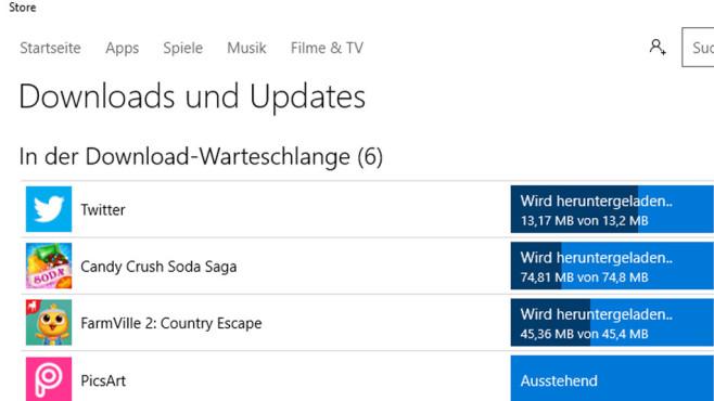 Spiele – Windows 10 ©COMPUTER BILD