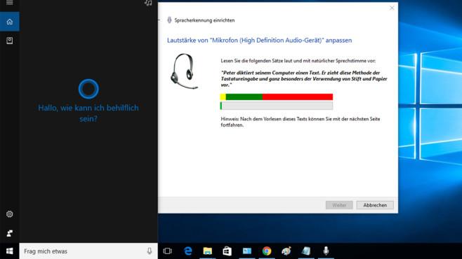Sprachsteuerung – Windows 10 ©COMPUTER BILD