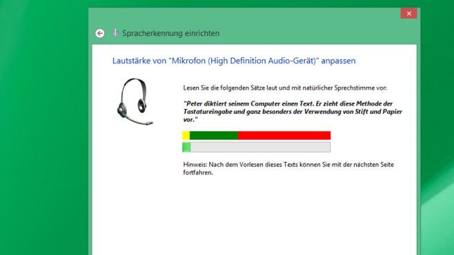 Sprachsteuerung – Windows 8 ©COMPUTER BILD