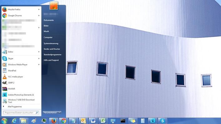 Startmenü – Windows 7