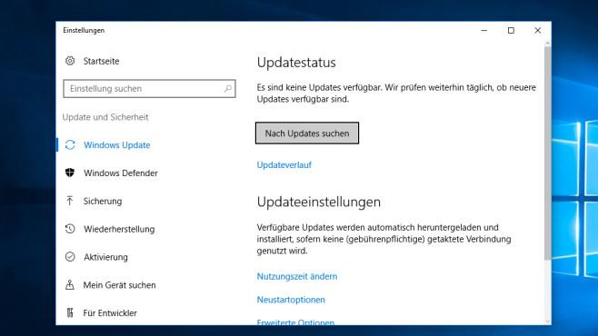 Update-Dialog – Windows 10 ©COMPUTER BILD
