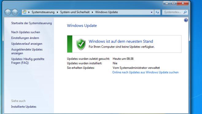 Update-Dialog – Windows 7 ©COMPUTER BILD