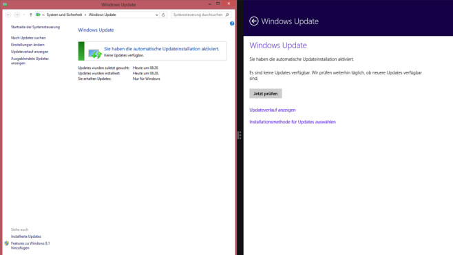 Update-Dialog – Windows 8 ©COMPUTER BILD