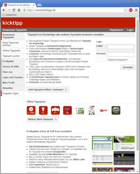 Screenshot 1 - Kicktipp