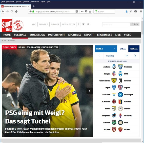 Screenshot 1 - SPORT BILD
