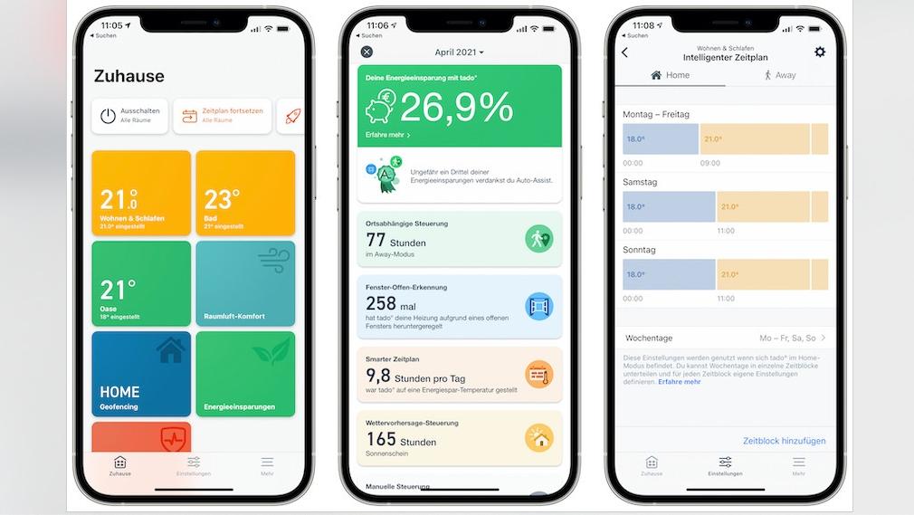Tado: Smartphone-App