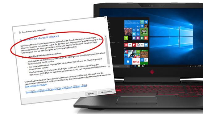 Feedback-Dialog weist auf Windows 11 und 12 hin ©Hewlett Packart, Microsoft
