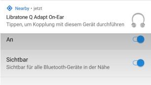 Libratone Q Adapt: Test des Noise-Cancelling-Kopfhörers Mit Android-Geräten klappt die Kopplung sehr einfach, auch ohne NFC.©COMPUTER BILD