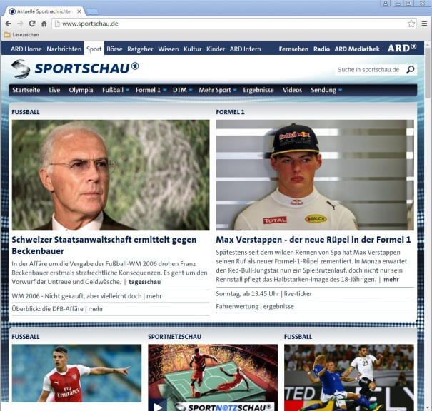 Screenshot 1 - Sportschau