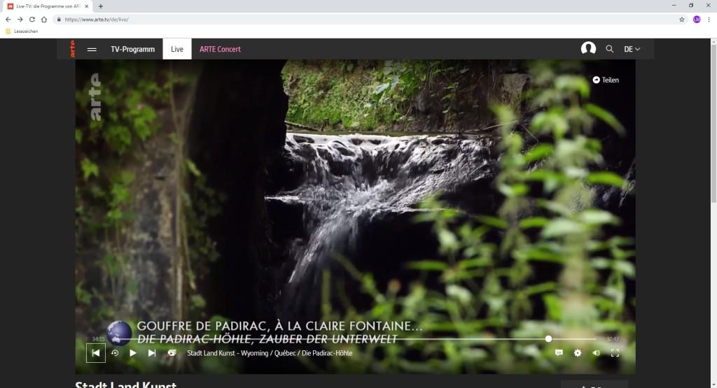 Screenshot 1 - Arte Livestream