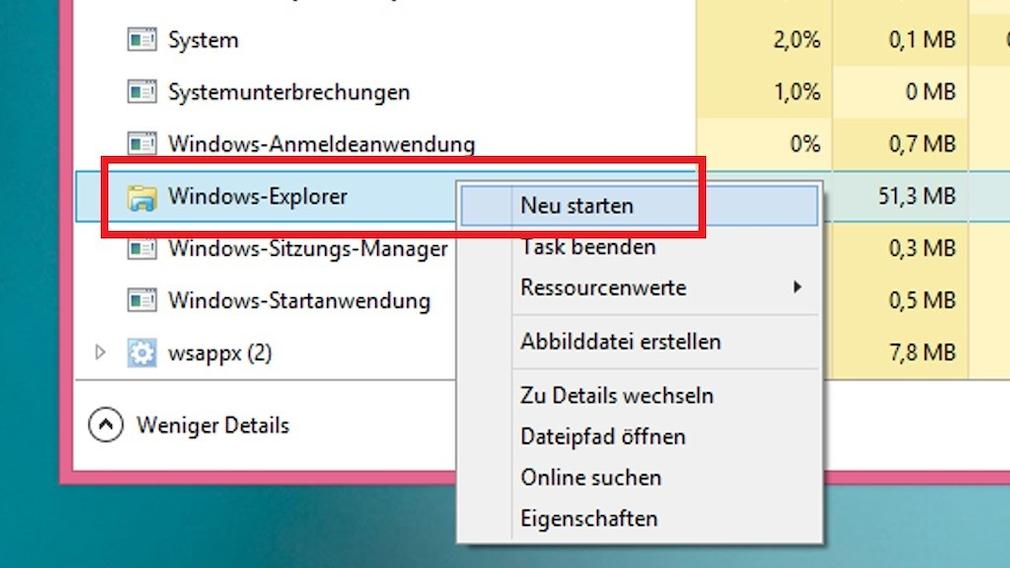 Windows 8: Charms-Bar erscheint nicht mehr