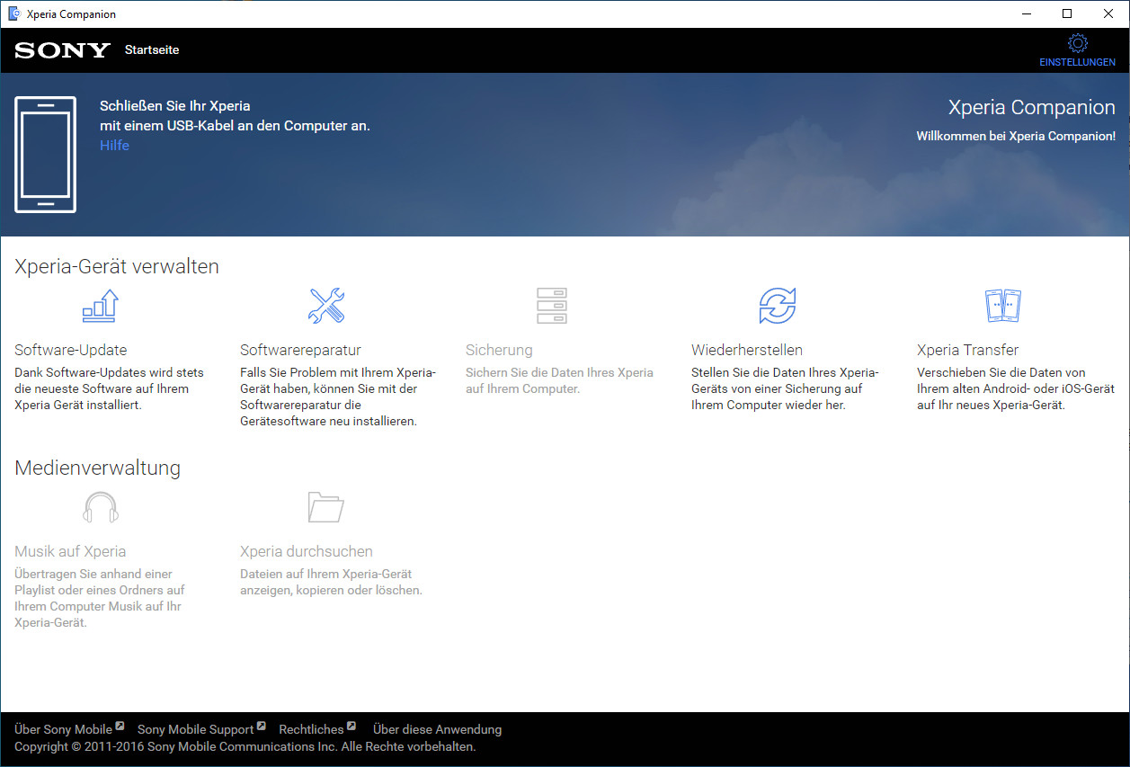 Screenshot 1 - Sony Xperia Companion