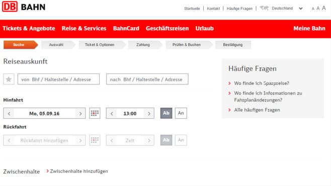 Bahn-Fahrplan aufsagen: Deutsche Bahn Fahrplanauskunft ©COMPUTER BILD