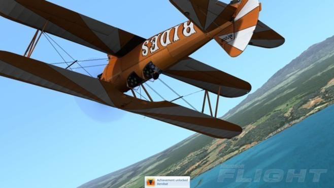 Flug-Akrobatik: Microsoft Flights ©COMPUTER BILD
