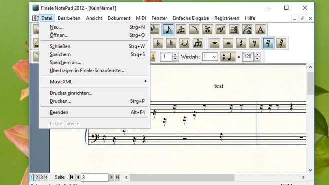 Musiker mit Instrument: Finale NotePad ©COMPUTER BILD