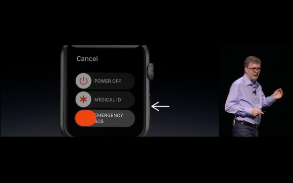 Notruffunktion bei WatchOS 3 © Apple