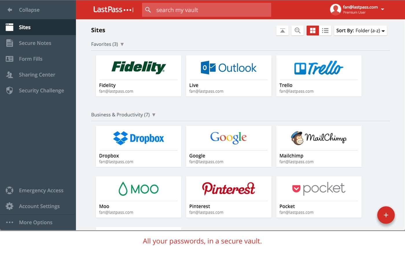 Screenshot 1 - LastPass für Microsoft Edge
