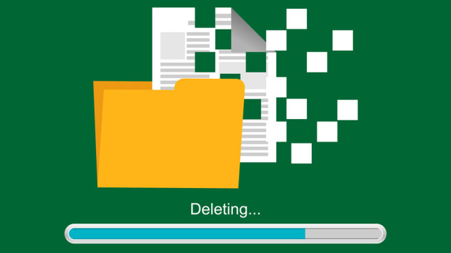 Windows 8/10: Das hilft, wenn das Löschen von ISO-Dateien scheitert Voluminöse Image-Abbilder fallen stärker ins Gewicht, als beispielsweise 0-Byte-Dateien. Die Klötze stören mitunter.©Fotolia--hanss-Deleting document or file. Deleting process.