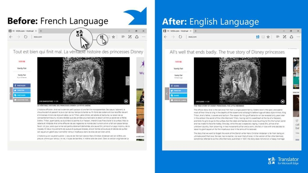 Screenshot 1 - Translator für Microsoft Edge