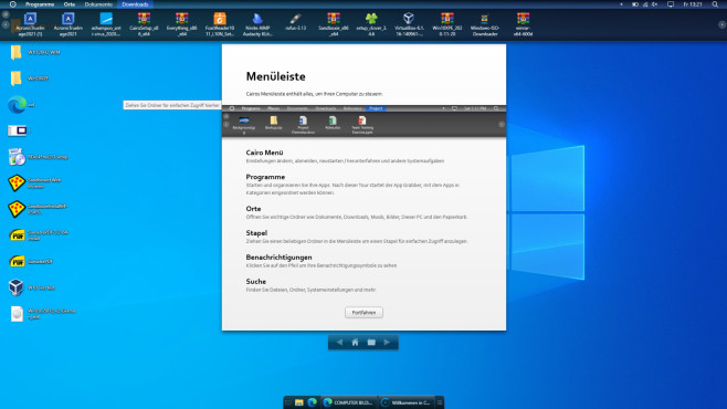 Windows 11: Diese Funktionen machen das System perfekt Cairo Desktop ändert die Windows-Shell (Bedienerführung) grundlegend in Richtung Moderne.©COMPUTER BILD
