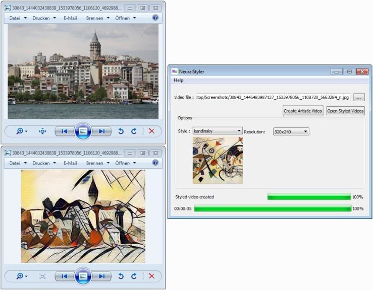 Screenshot 1 - NeuralStyler