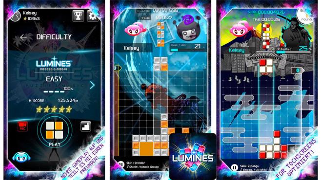 Lumines ©mobcast inc.