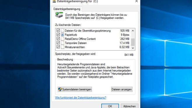Datenträgerbereinigung ©COMPUTER BILD