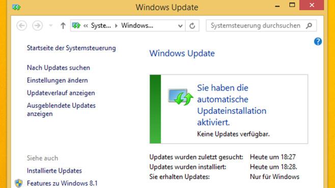 Updates installieren ©COMPUTER BILD