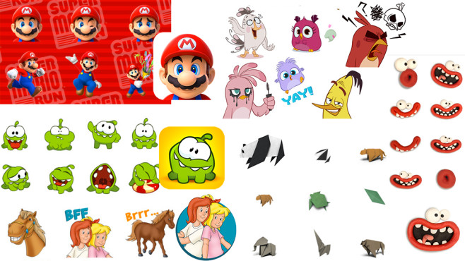 iMessage-Sticker-Apps © ZeptoLab, WWF, Nintendo & Co, Aardman Animations, Blue Ocean Entertainment, Rovio Entertainment