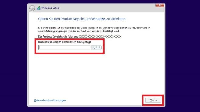 Windows-8.1-Setup akzeptierte nur 8.1-Schlüssel ©COMPUTER BILD
