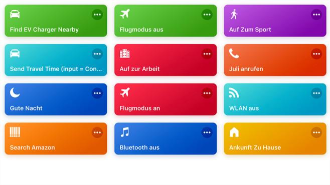 """Apple HomePod im Test: So gut klingt der Siri-Lautsprecher solo und in stereo Mit der App """"Kurzbefehle"""" lassen sich ganze Befehlsketten mit einem Stichwort starten, auch über mehrere Apps hinweg.©COMPUTER BILD"""