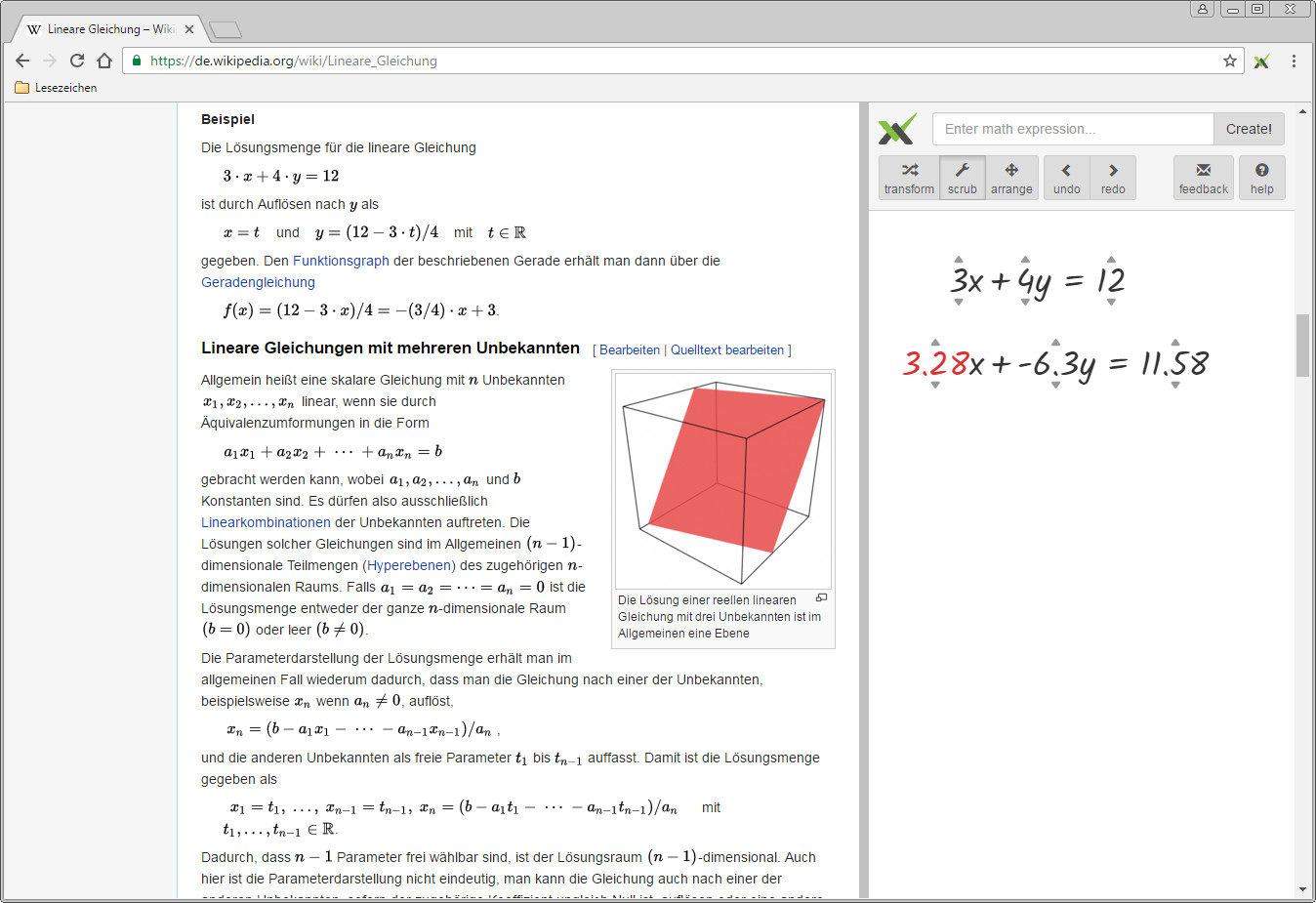 Screenshot 1 - Graspable Math Sidebar für Chrome