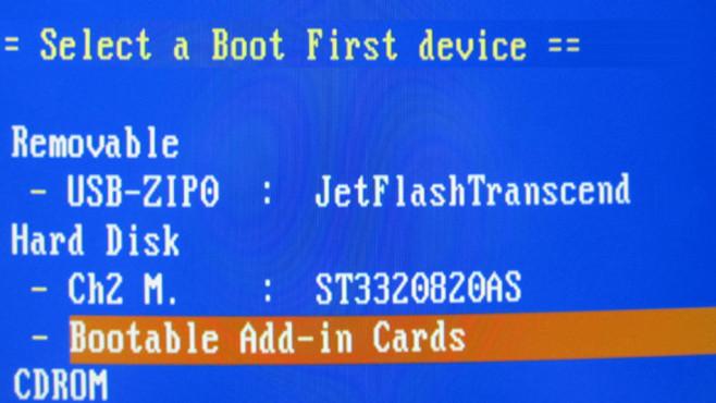 BIOS-Bootreihenfolge abklopfen ©COMPUTER BILD