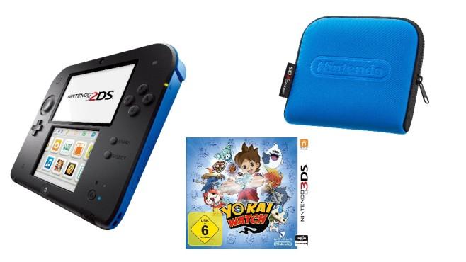 Nintendo 2DS schwarz-blau inklusive Yo-Kai Watch ©Media Markt