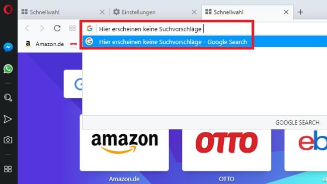 Adressleisten-Websuchen deaktivieren ©COMPUTER BILD