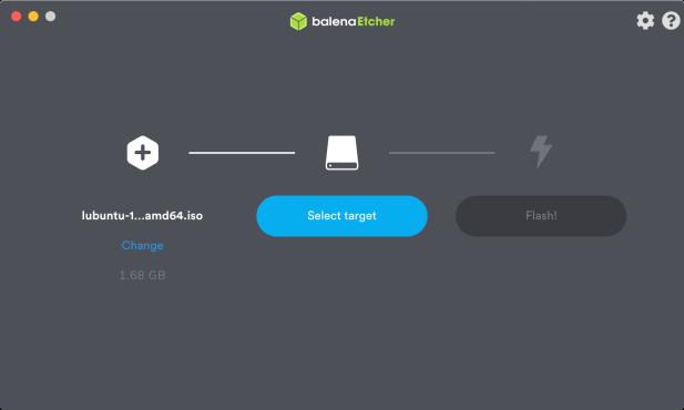 Screenshot 1 - Etcher (Mac)